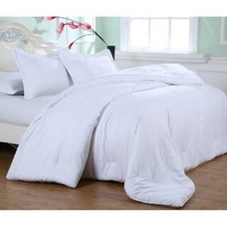 Laurel Creek Ainsley Embossed White Microfiber Plush Comforter Set