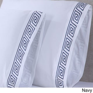 Affluence 600TC Greek Key Embroidered Pillowcase (Set of 2)