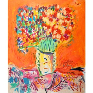 Marmont Hill - 'Autumn Bouquet' by Michael Woodward Painting Print on Canvas