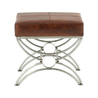Steel Leather Foot Stool