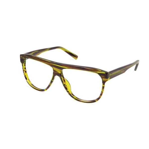 Cynthia Rowley Eyewear CR 6019 No. 15 Olive Stripe Aviator Plastic Eyeglasses