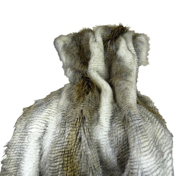 Plutus Faux Fur Alaskan Hawk Handmade Throw