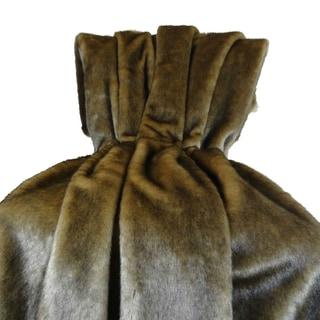 Plutus Wild Mink Fur Faux Fur Handmade Blanket Pillow