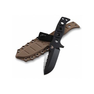 Benchmade 375 Adamas Fixed Blade Knife (4.20-Inch Black Plain) - 375BKSN