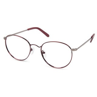 Cynthia Rowley Eyewear CR5008 No. 24 Burgundy Round Metal Eyeglasses