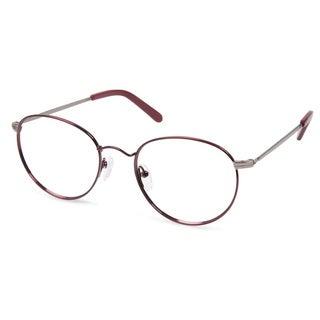 Cynthia Rowley Eyewear CR5008 No. 24 Burgundy Round Metal Eyeglasses