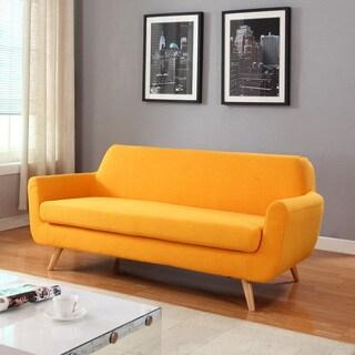 Mid Century Modern Linen Fabric Sofa Living Room Furniture