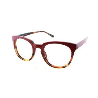 Cynthia Rowley Eyewear CR5027 No. 05 Red/Tortoise Round Plastic Eyeglasses