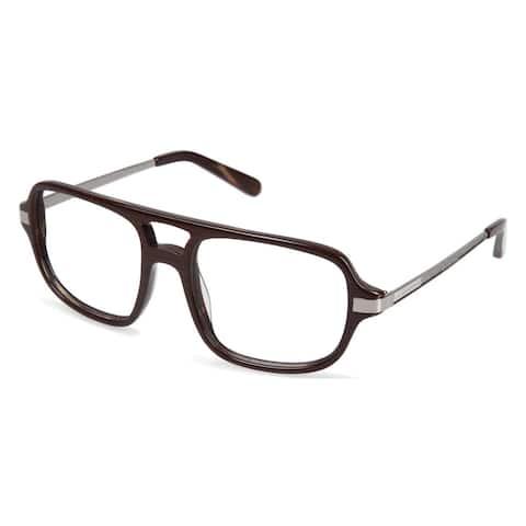 Cynthia Rowley Eyewear CR6000 No. 97 Brown Wood Aviator Plastic Eyeglasses