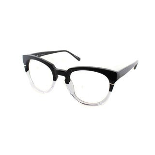 Cynthia Rowley Eyewear CR5027 No. 05 Black/Clear Round Plastic Eyeglasses