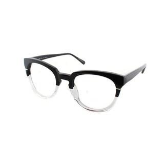 Cynthia Rowley Eyewear CR5027 No. 05 Black/Clear Round Plastic Eyeglasses