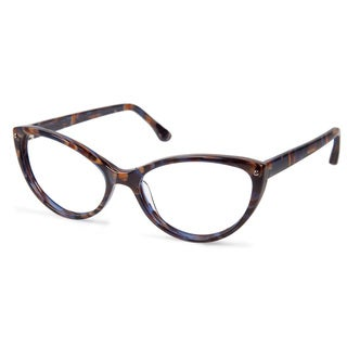 Cynthia Rowley Eyewear CR5000 No. 50 Black Texture Cat-Eye Plastic Eyeglasses