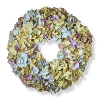 18.5-inch Mixed Hydrangea Wreath