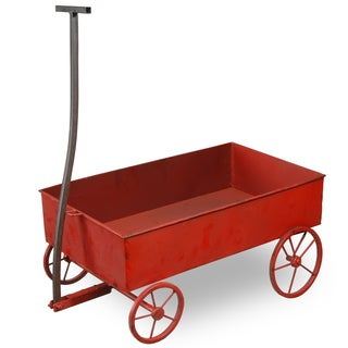 Decorative Red Wagon