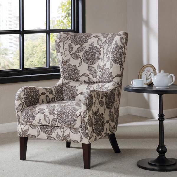 "Madison Park Leda Multi Swoop Wing Chair - 27.5""W x 34.5""D x 41.625""H"