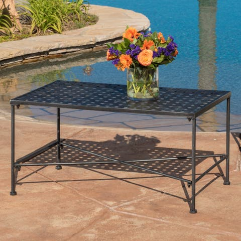 Petra Outdoor Coffee Table by Christopher Knight Home