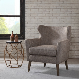 Madison Park Letti Taupe Concave Club Chair
