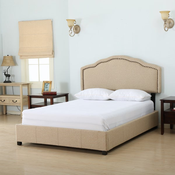 Shop Bellagio Fabric Queen Bed Set By Christopher Knight Home Free Shipping Today Overstock