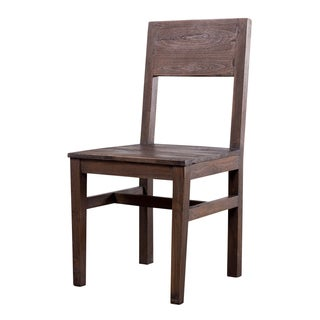 Organic Modern Smoky Teak Dining Chair (India)