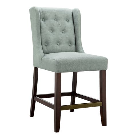 "Madison Park Aida Blue Counter Stool - 21""w x 24""d x 41.5""h"