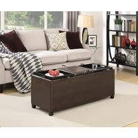 Convenience Concepts Designs4Comfort Tribeca Ottoman with 3 Tray Tops