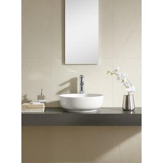 Fine Fixtures White 16-inch Round Thin Edge Vessel Sink