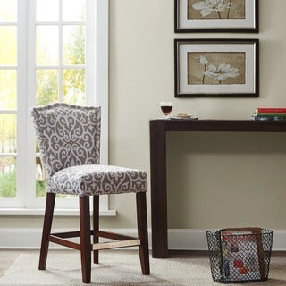 Madison Park Everitt Taupe Counter Stool