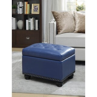 Remarkable Buy Blue Ottomans Storage Ottomans Online At Overstock Theyellowbook Wood Chair Design Ideas Theyellowbookinfo