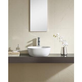 Fine Fixtures White 16-inch Square Thin Edge Vessel Sink