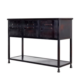 Industrial Iron Locker Console End Table (India)