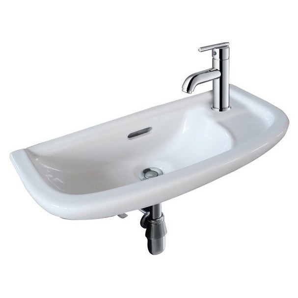 "Fine Fixtures White 20-inch Wall-mounted Sink (20"" White ..."
