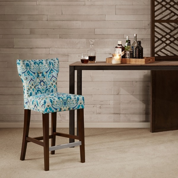 Shop Madison Park Hayes Tufted Back Counter Stool 17 75