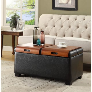 Clay Alder Home Logan Storage Ottoman with Trays
