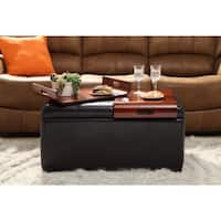 Copper Grove Helena Storage Ottoman with Trays