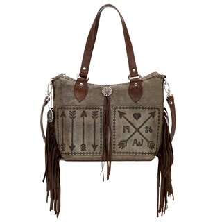American West Cross My Heart Collection Bucket Tote Bag