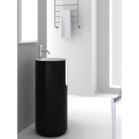 Fine Fixtures Crestview Black Pedestal Sink