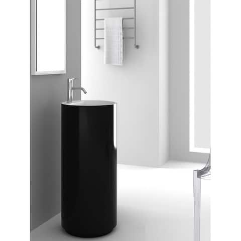 Fine Fixtures Crestview Black Pedestal Sink