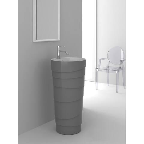 Fine Fixtures Rockview Grey Pedestal Sink