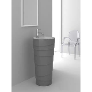 Fine Fixtures Rockview Grey Pedestal Sink