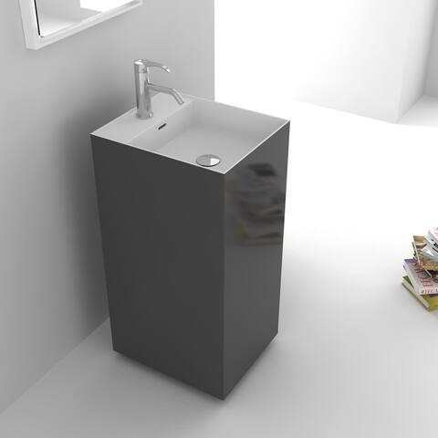 Fine Fixtures Springhill Grey Pedestal Sink