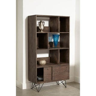Somette Mango Wood and Iron 2-Door Bookcase