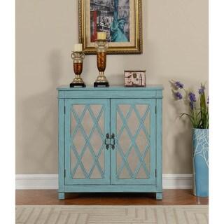 Somette Teal 2-Door Cabinet