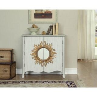 Somette White Sun Medallion 2-Door Cabinet