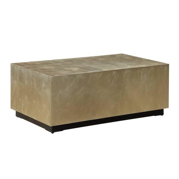 Somette Metallic Gold Block Tail Table Free