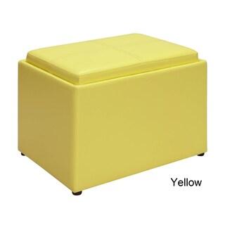 Porch & Den Bywater Claiborne Accent Storage Ottoman (Option: Yellow)