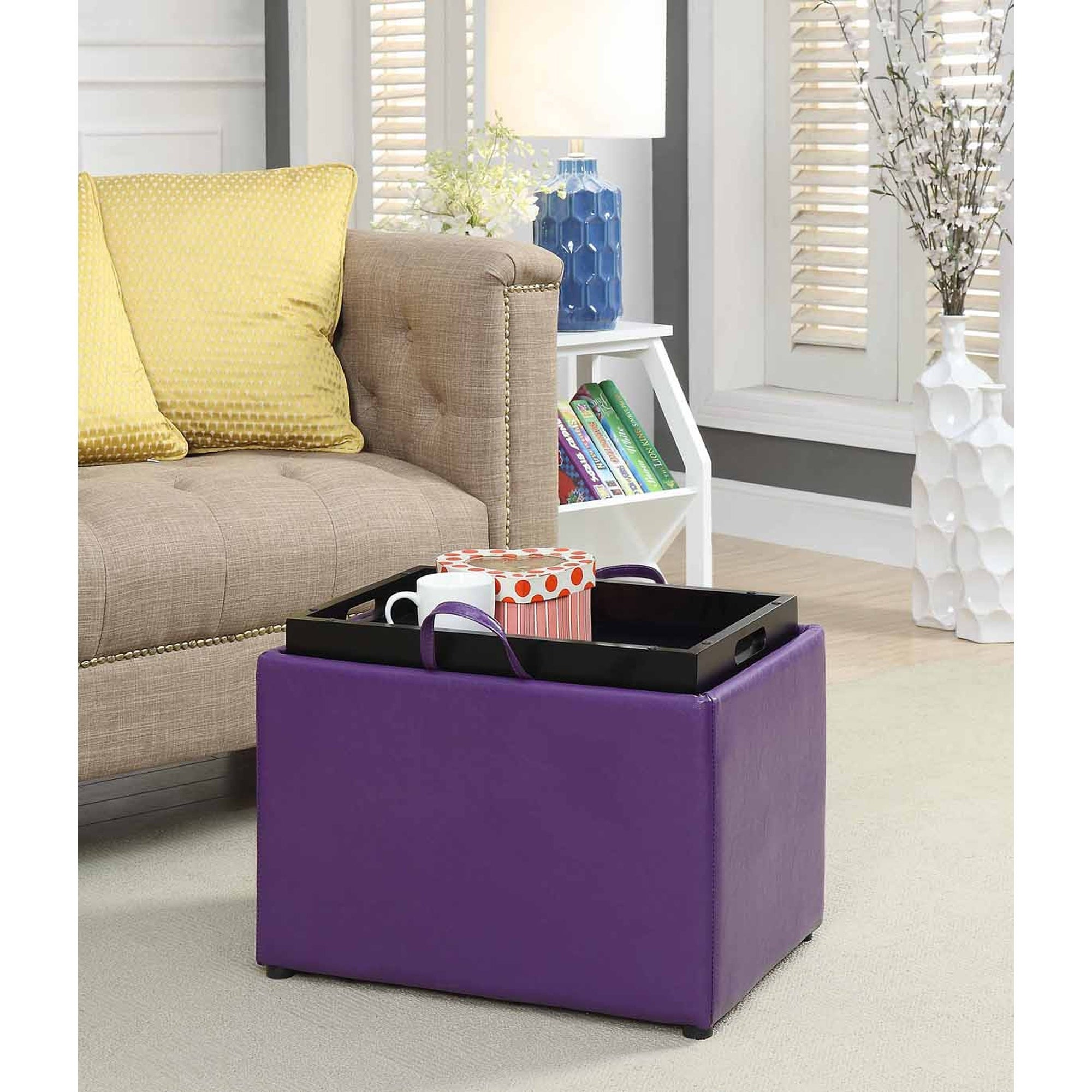 Convenience Concepts Designs4Comfort Accent Storage Ottom...