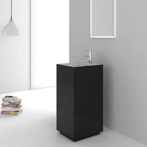 Fine Fixtures Springhill Black Pedestal Sink