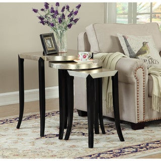 Somette Metallic Gold 3-Piece Nesting Table Set