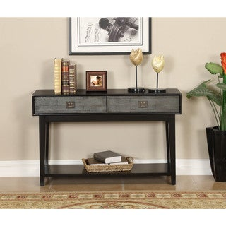 Somette Black 2-drawer Sofa Table