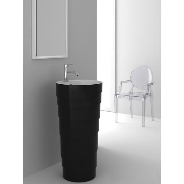 Fine Fixtures Rockview Black Pedestal Sink